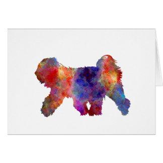 Tibetan Terrier in watercolor Card