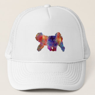 Tibetan Terrier in watercolor Trucker Hat