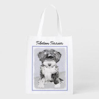 Tibetan Terrier Reusable Grocery Bag