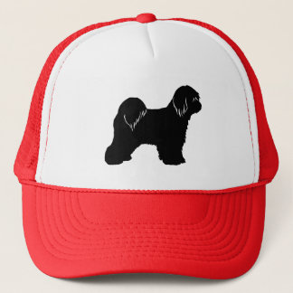 Tibetan Terrier Silhouette Trucker Hat
