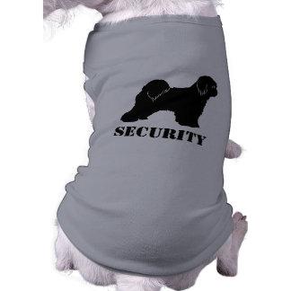 Tibetan Terrier Silhouette with Custom Text Shirt