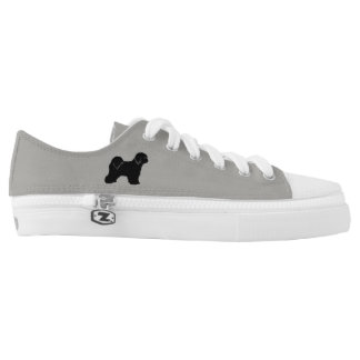 Tibetan Terrier Silhouettes Low-Top Sneakers