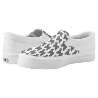 Tibetan Terrier Silhouettes Pattern Slip-On Sneakers