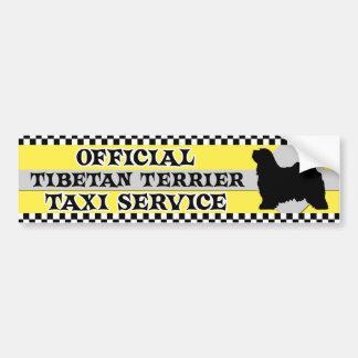 Tibetan Terrier Taxi Service Bumper Sticker