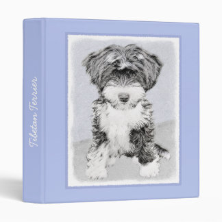 Tibetan Terrier Vinyl Binder