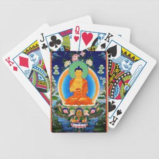 Tibetan Thangka Prabhutaratna Buddha Bicycle Playing Cards