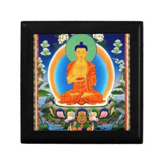 Tibetan Thangka Prabhutaratna Buddha Jewelry Box