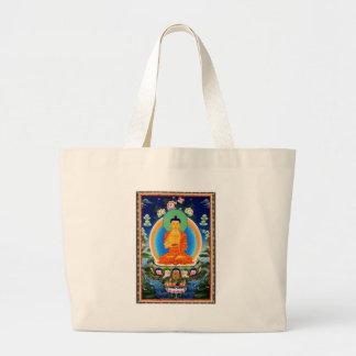Tibetan Thangka Prabhutaratna Buddha Large Tote Bag