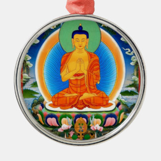 Tibetan Thangka Prabhutaratna Buddha Metal Ornament