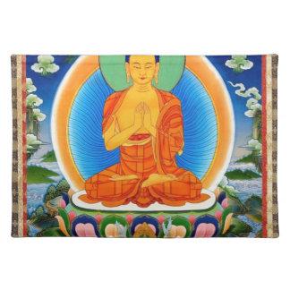 Tibetan Thangka Prabhutaratna Buddha Placemat