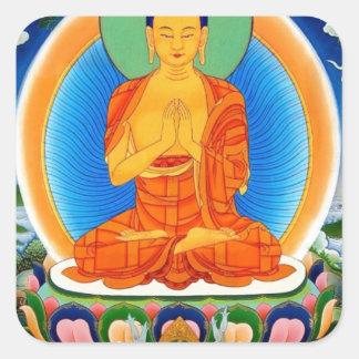 Tibetan Thangka Prabhutaratna Buddha Square Sticker