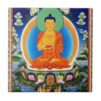 Tibetan Thangka Prabhutaratna Buddha Tile