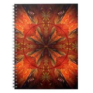 Tibetan Trumpet Vine Spiral Notebooks