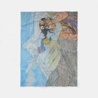 Tibetan Winds Fleece Blanket