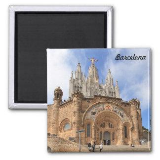Tibidabo church, Barcelona Square Magnet