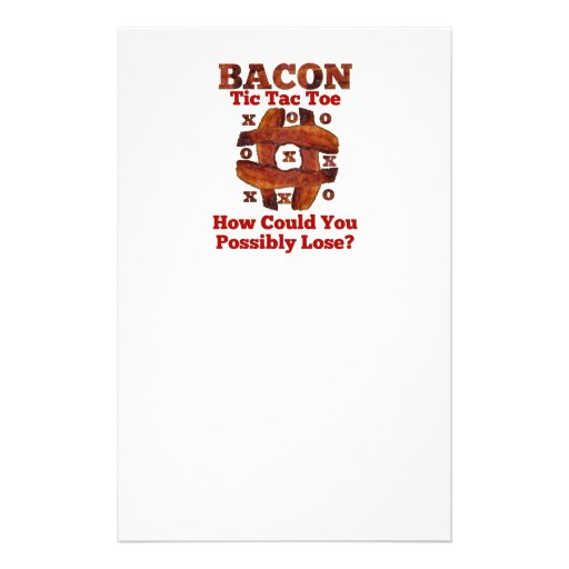Tic Tac Bacon Stationery Design