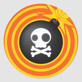 Tic_Tac_Bomb Classic Round Sticker