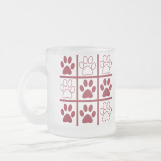 Tic TAC Dog 10 Oz Frosted Glass Coffee Mug