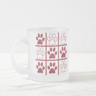Tic Tac Dog Frosted Glass Mug