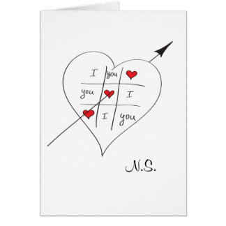Tic Tac Love Toe Card