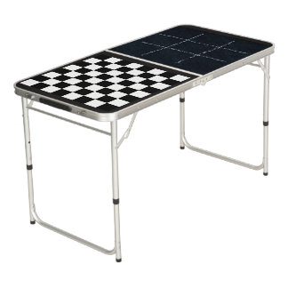 Tic Tac Toe and Checkers Game Board Table Pong Table