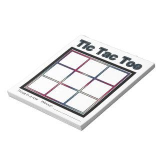Tic Tac Toe Game Notepad