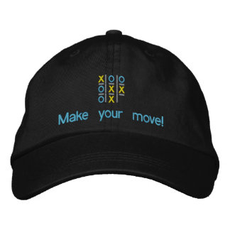 Tic Tac Toe Make Your Move Embroidered Hat