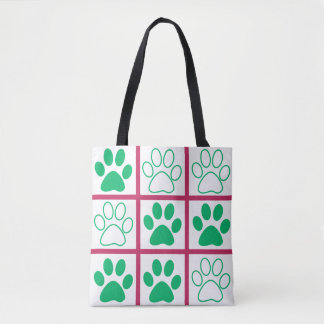 Tic-Tac-Toe Pop Design Tote Bag