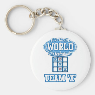 "Tic Tac Toe World Championship - Team ""X"" Keychain"
