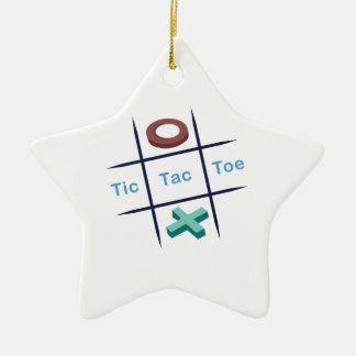 Tic Tac Toe Xox Ceramic Ornament