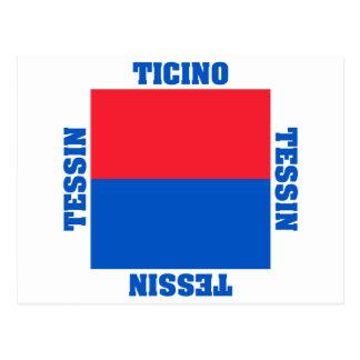 Ticino Switzerland Canton Flag Postcard