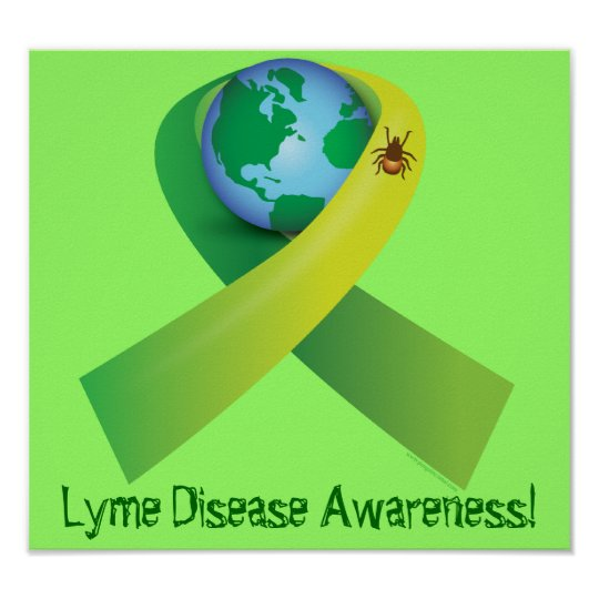 Tick Spreading Lyme Around the Word Poster