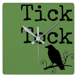 Tick Tock Clock with Raven Primitive