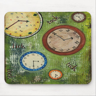 Tick tock - clocks everywhere mousepad