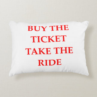 TICKET ACCENT PILLOW