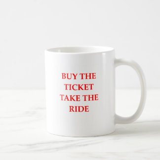 TICKET COFFEE MUG