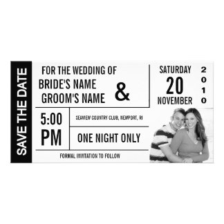 Ticket Design Save the Date Photo Card