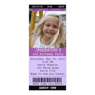 Ticket Invitation (Purple) Photo -Theatre/Movie