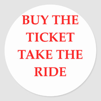 TICKET ROUND STICKER