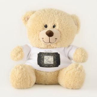Ticket Save the Date Elegant Gold Foil Dots Script Teddy Bear