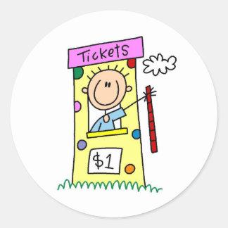 Tickets For The Fair Stick Figure Sticker
