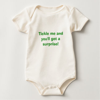 Tickle me and you'll get a surprise! baby bodysuit