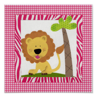 Tickle Me Pink Lion Print