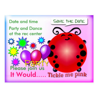 Tickle me Pink Postcard