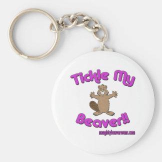 Tickle My Beaver Keychain