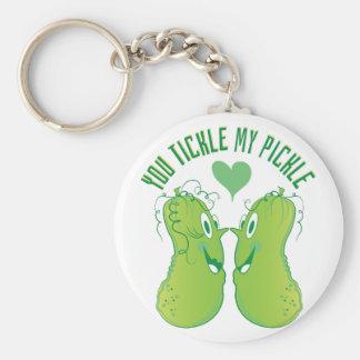 Tickle My Pickle Basic Round Button Keychain