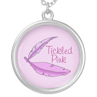 "Tickled Pink Feather ""Remission"" Necklace"