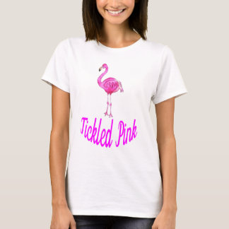 Tickled Pink - Watercolor Pink Flamingo T-Shirt