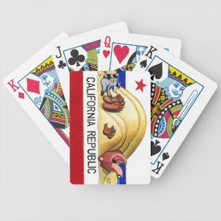 Ticklish California Bear Flag Bicycle Playing Cards