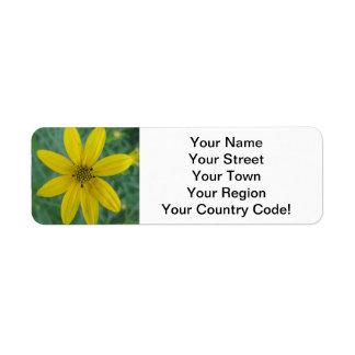 Tickseed Coreopsis Yellow Garden Flower Return Address Label